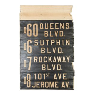 ニューヨークバスサイン(NYC city bus roll sign queens sutphin rockway blcd jerome ave)