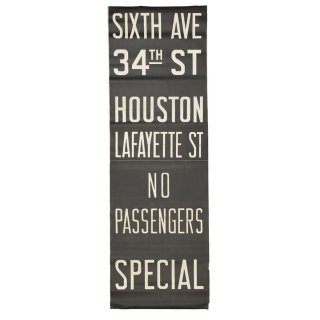 ヴィンテージ ニューヨーク サブウェイサイン (NYC Subway Sign sixth ave/34thst/houston)
