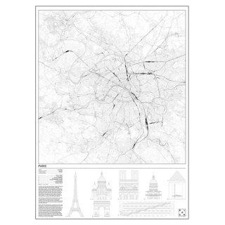 PARIS(パリ/フランス) マップ 地図  アート ポスター   Msize - BLOCK STDO -