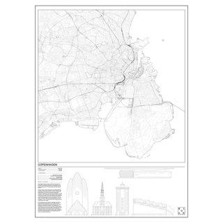 COPENHAGEN(コペンハーゲン/デンマーク)  マップ 地図 アート ポスター   Msize - BLOCK STDO -