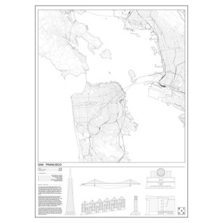 SAN FRANCISCO(サンフランシスコ/アメリカ) マップ 地図  アート ポスター   Msize - BLOCK STDO -<img class='new_mark_img2' src='https://img.shop-pro.jp/img/new/icons20.gif' style='border:none;display:inline;margin:0px;padding:0px;width:auto;' />