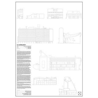 LE CORBUSIER(ル・コルビュジエ) 建築 アート ポスター   Msize - BLOCK STDO -