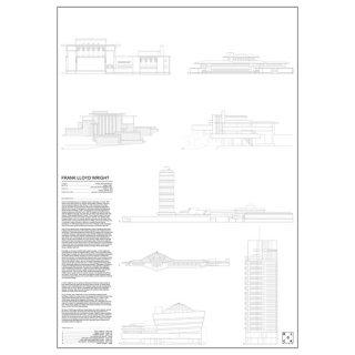 FRANK LLOYD WRIGHT(フランク・ロイド・ライト)  建築  アート ポスター  Msize - BLOCK STDO -