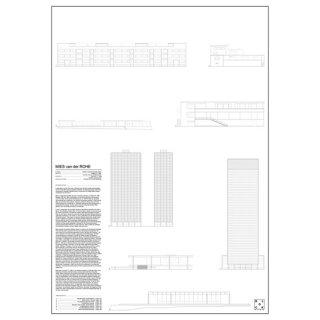 MIES VAN DER ROHE(ミース・ファン・デル・ローエ)  建築 アート ポスター  Msize - BLOCK STDO -