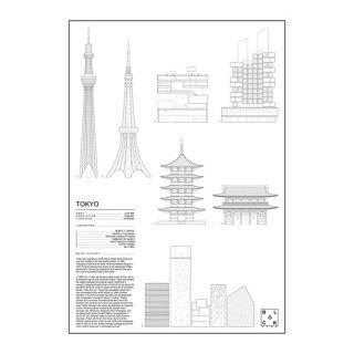 TOKYO(東京/日本)アイコン アート ポスター  Ssize - BLOCK STDO -