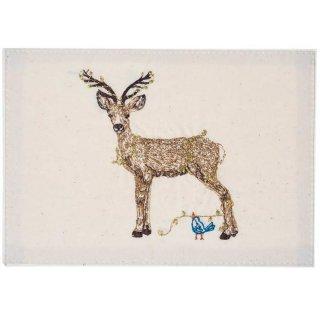 DEER WITH LIGHTS STATIONERY 刺繍ポストカード -Coral & Tusk(コーラル&タスク)-