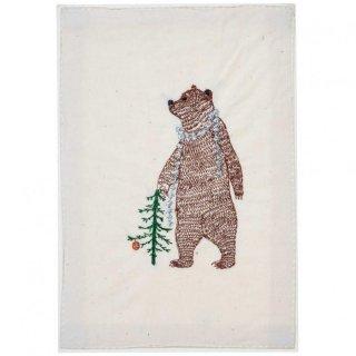BEAR WITH TINSEL STATIONERY 刺繍ポストカード -Coral & Tusk(コーラル&タスク)-