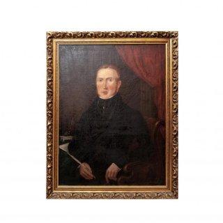【60%OFF】19世紀 ジェントルマン ポートレート 肖像画