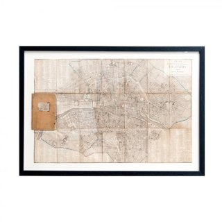 1807年代 アンティーク フランス パリ マップ(地図) Paris Map 1807