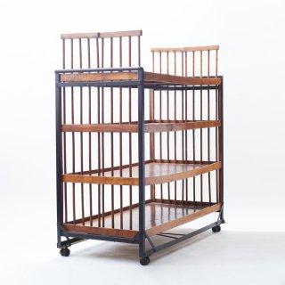 【20%OFF】アンティーク家具 ブレッドラック ベーカリーラック(大型ラック)