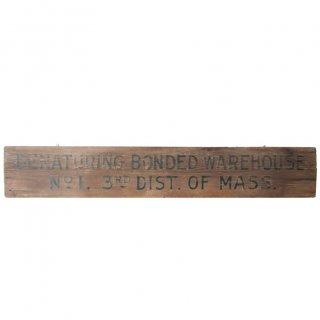 1920年から1933年 アメリカ 木製看板 サイン Wooden Warehouse sign