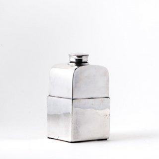 1920's アメリカ 水筒 銀食器 シルバープレート Chrome Flask
