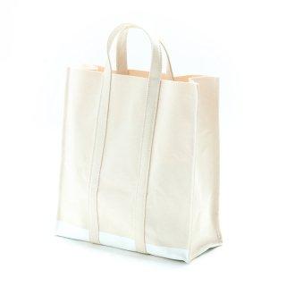 キャンバス スクエアトートバッグ(ホワイト×ラバーペイント) 倉敷帆布  | GENERAL SUPPLY