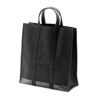 キャンバス スクエアトートバッグ(ブラック×ラバーペイント) 倉敷帆布  | GENERAL SUPPLY