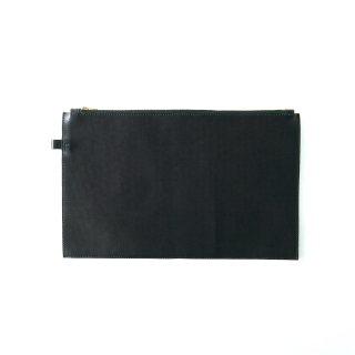 レザー ラージポーチ(ブラック)  | GENERAL SUPPLY