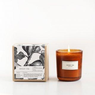 アンバーグラスキャンドル(いちじく| Sweet Fig) | Brooklyn Candle Studio