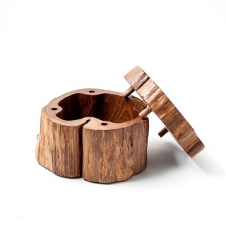 【30%OFF】木製小物入れ Hand crafted wooden box