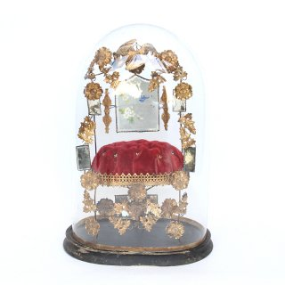 アンティーク グローブ ド マリエ 鏡のガラスドーム