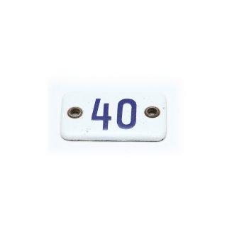 ヴィンテージ ロッカー ナンバー プレート 40