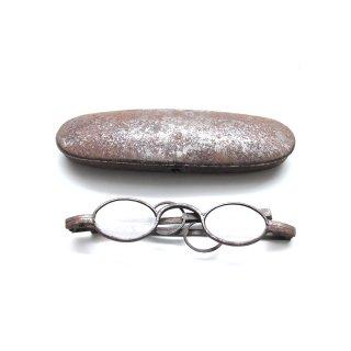 アンティーク メガネ ケース 付 眼鏡入れ