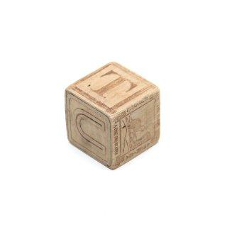 ヴィンテージ ウッド アルファベット キューブ 積み木