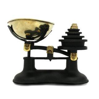ヴィンテージ キッチンスケール ブラス 真鍮 ラウンド ウェイト セット イギリス