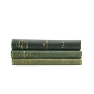 アンティーク 洋書 ・ 洋古書 3冊セット グリーン