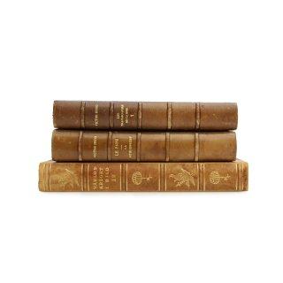 アンティーク 洋書 ・ 洋古書 3冊セット レザー ヴィクトル・ユーゴー