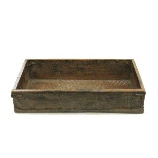 1900年代 アンティーク レザー ウッド ボックス アメリカ