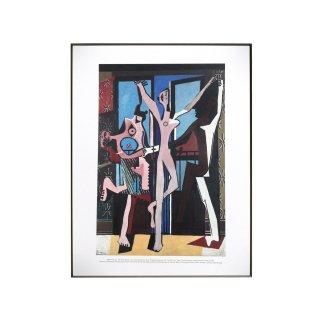 パブロ・ピカソ  「三人の踊り子(ダンス)」 1925 アートプリント フレームセット