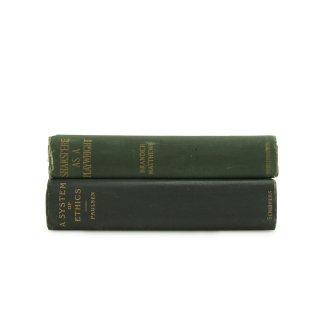 アンティーク 洋書 ・ 洋古書 2冊セット グリーン