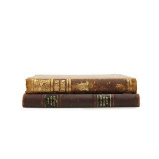 アンティーク 洋書 ・ 洋古書 3冊セット レザー ブラウン マーブル柄