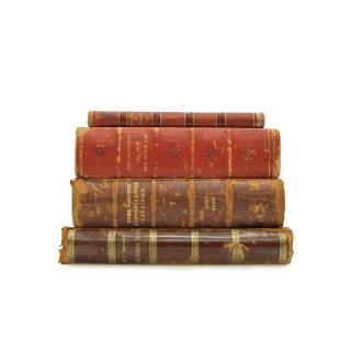 アンティーク 洋書 ・ 洋古書 4冊セット レザー レッド