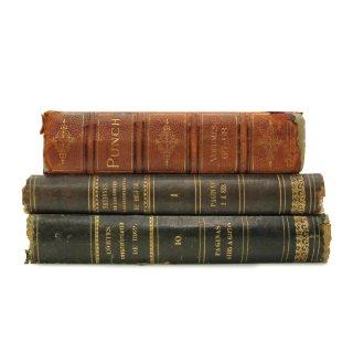 アンティーク 洋書 ・ 洋古書 3冊セット レザー ラージサイズ