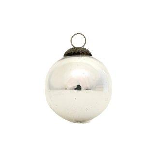 クリスマス オーナメント ボール シルバー Sサイズ マーキュリーグラス