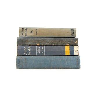 アンティーク 洋書 ・ 洋古書 4冊セット ブルー