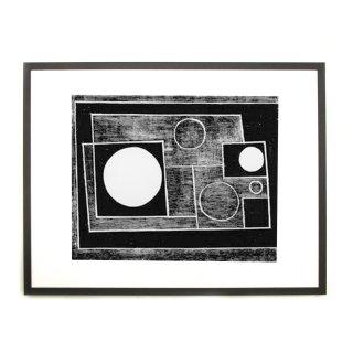 ベン・ニコルソン  「Abstract」 1934 アートプリント ブラックフレームセット
