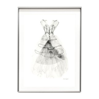 Nick Veasey ニック・ヴィーシー 「Balenciaga Dress」 アート 写真 ポスター フレームセット