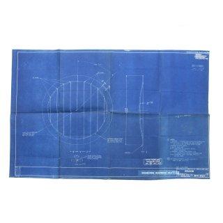 ヴィンテージ  ブループリント 「WINDOW」 青焼き 図面