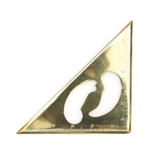 真鍮製 ブラス 三角定規 雲形