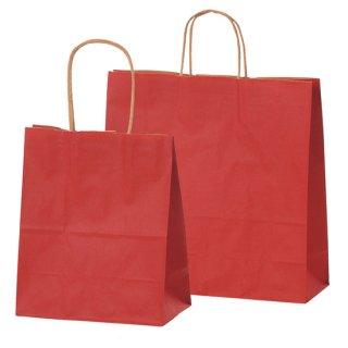 手付き紙袋(カラークラフト・赤)