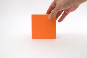 正方形 100mm×100mm×30mm オレンジ