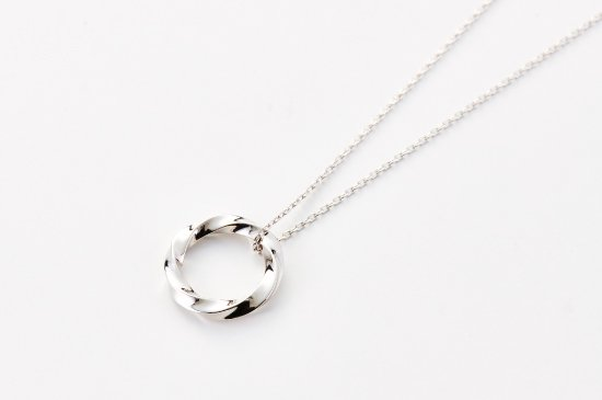 running water crest necklace