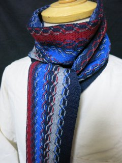 <img class='new_mark_img1' src='https://img.shop-pro.jp/img/new/icons25.gif' style='border:none;display:inline;margin:0px;padding:0px;width:auto;' />Dappers Rope Woolen Scarf by V.FRAAS LOT1086  NVY