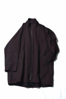 Wool Gabardine 90 Zip Coat brown