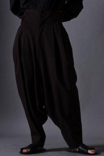 Wool Gabardine Japanese Lantern Pants brown