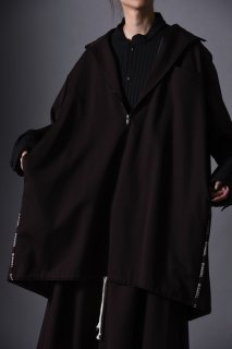 Wool Gabardine Half Zip Pullover brown