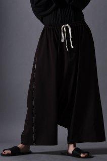Wool Gabardine Sarrouel Line Big Pants brown