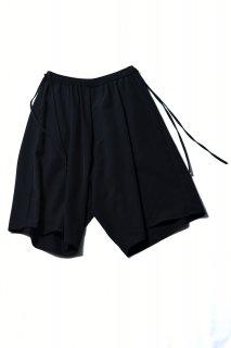 Wool Gabardine Wide Half Pants