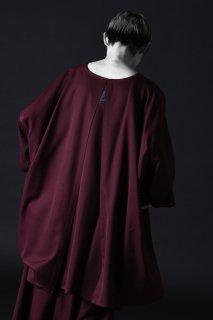 Wool Gabardine Liberty Pullover wine